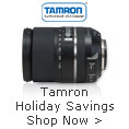 Tamron Holiday Savings
