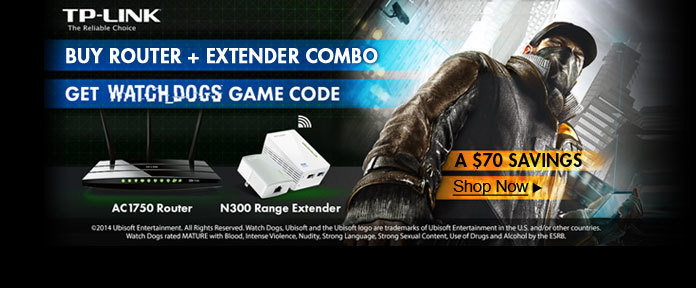 BUY ROUTER + EXTENDER COMBO GET WATCH DOGS GAME CODE