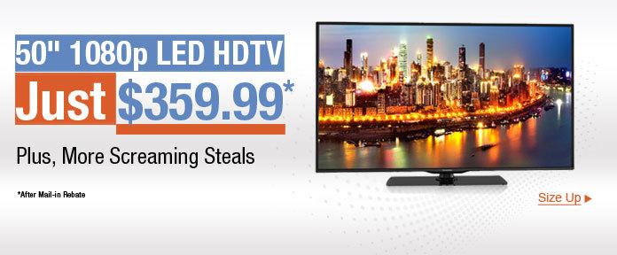 "50"" 1080p LED HDTV Just $359.99"