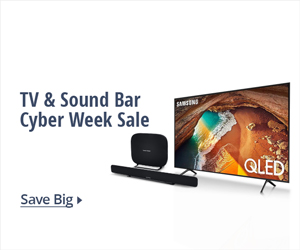 TV & Sound Bar Cyber Week sale