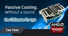 Passive cooling without a sound