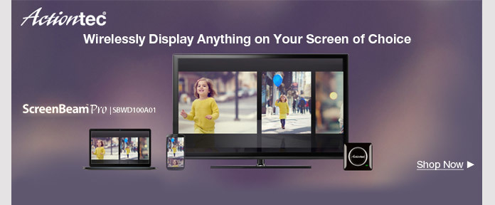 Actiontec wirelessly display anything on your screen of Choice
