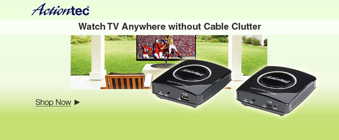 Watch TV anywhere without cable clutter