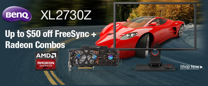 Up to $50 off FreeSync + Radeon Combos