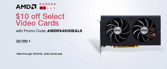 $10 off select video cards with promo code