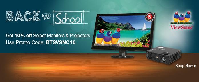 Get 10% off select monitors & projectors w/ promo code
