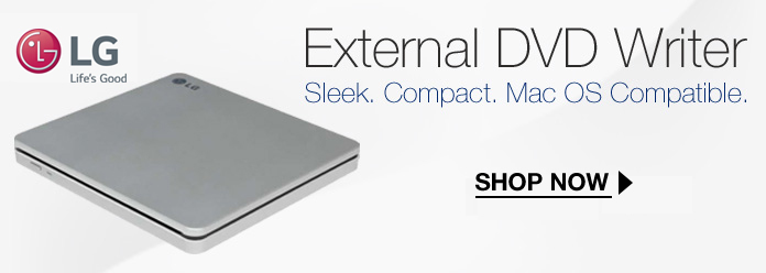 20% off Select Mac OS Compatible External DVD Burners