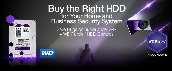Save on Surveillance DVR + WD Purple Combos
