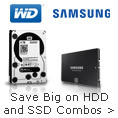 Get Both Capacity & Speed with HDD + SSD Combos