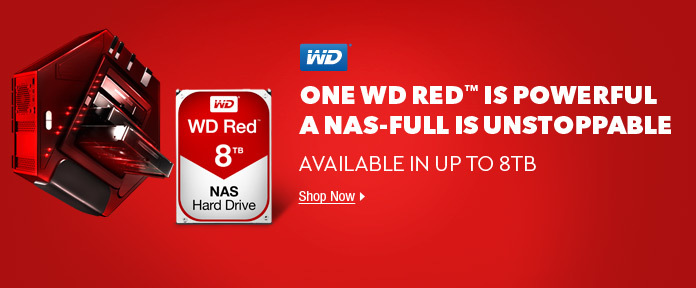ONE WD RED™ IS POWERFUL