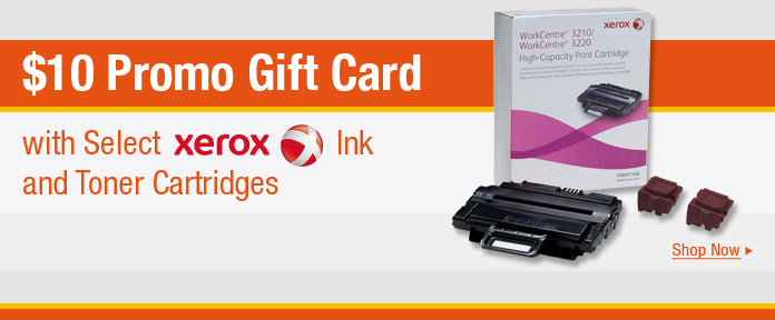 $10 Promo Gift Card with Select Xerox Ink and Toner Cartridges