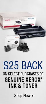 $25 BACK on Select Purchases of Genuine Xerox® Ink & Toner