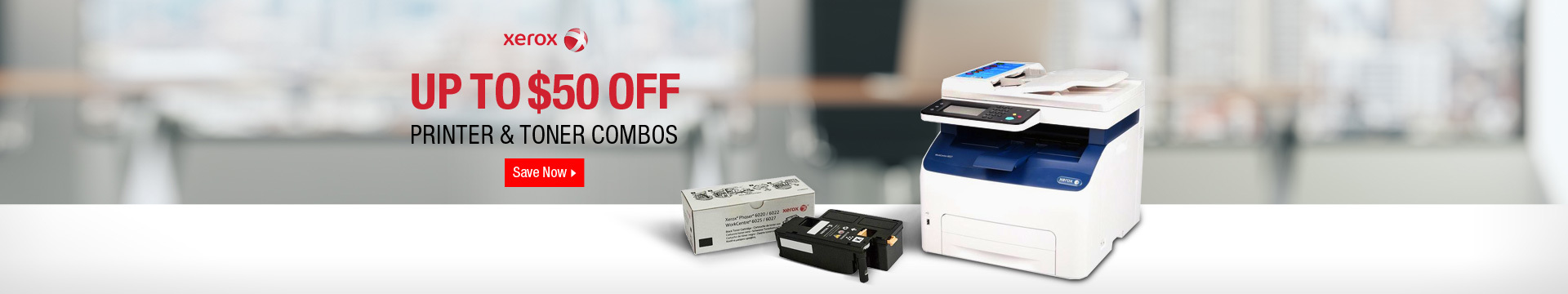 Up to $50 off Printer & Toner Combos