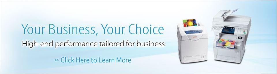 Your Business, Your Choice.  High-end performance tailored for business