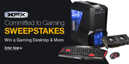 XFX Commited To Gaming Sweepstakes
