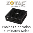 Fanless Operation Eliminates All Noise